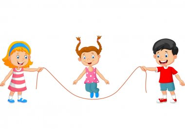 Cartoon Playing jump rope