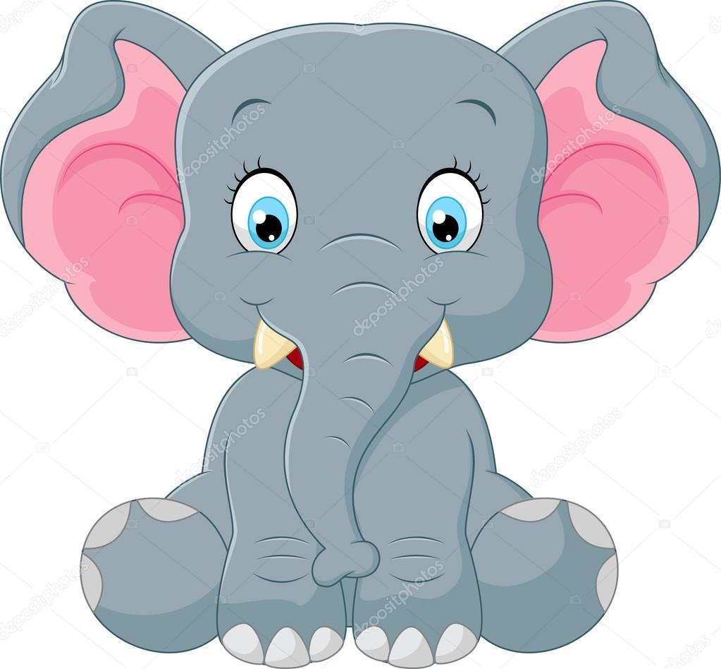 Dessin anim mignon b b l phant image vectorielle - Fotos de elefantes bebes ...