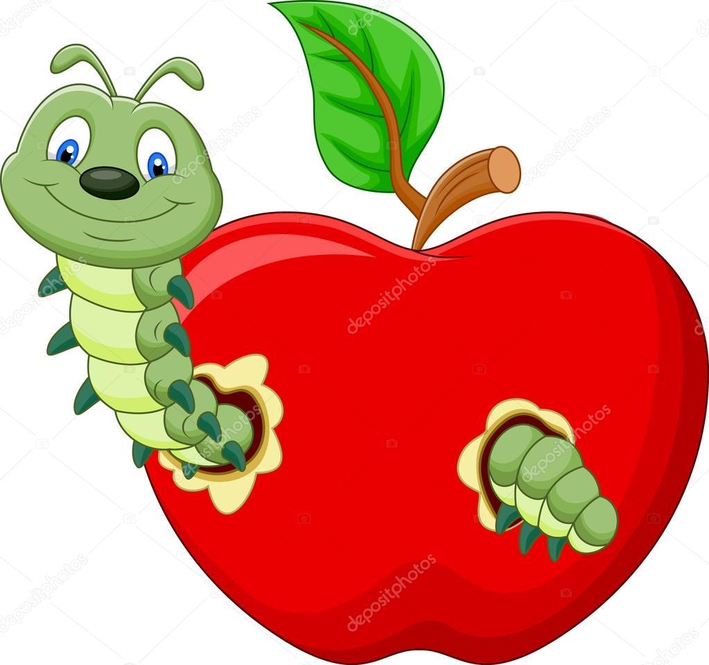 Resultado de imagen para imagenes manzanas y gusanos