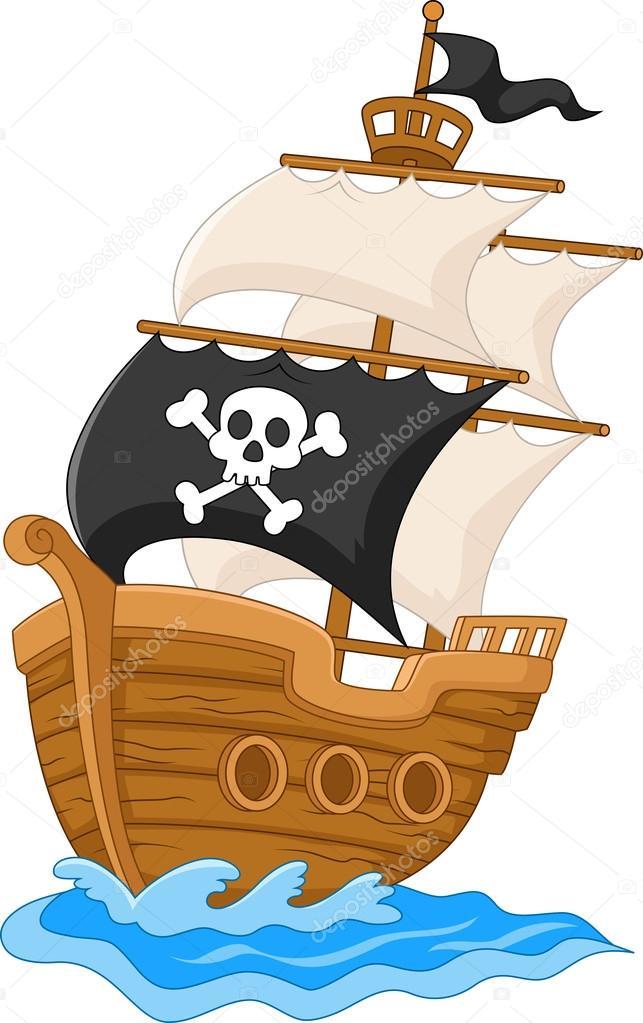 Imágenes Barcos Piratas En Caricatura Dibujo Animado Del Barco