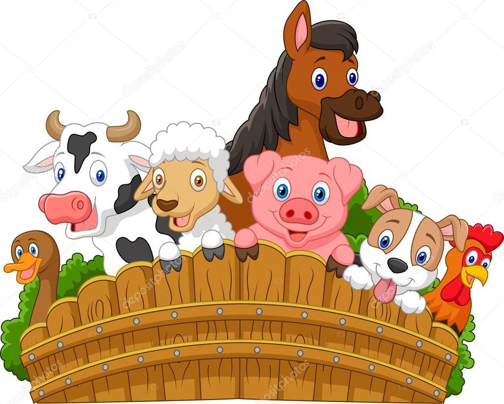Cartoon Collection farm animals — Stock Vector © tigatelu ...