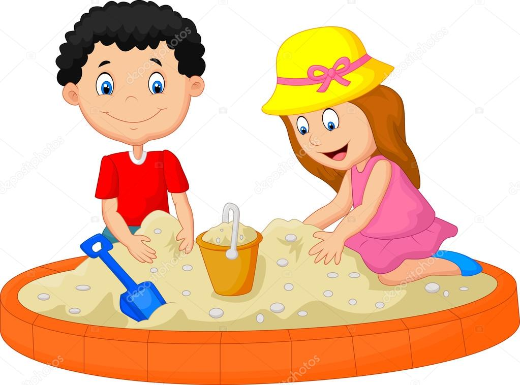 Sand Playing Kids
