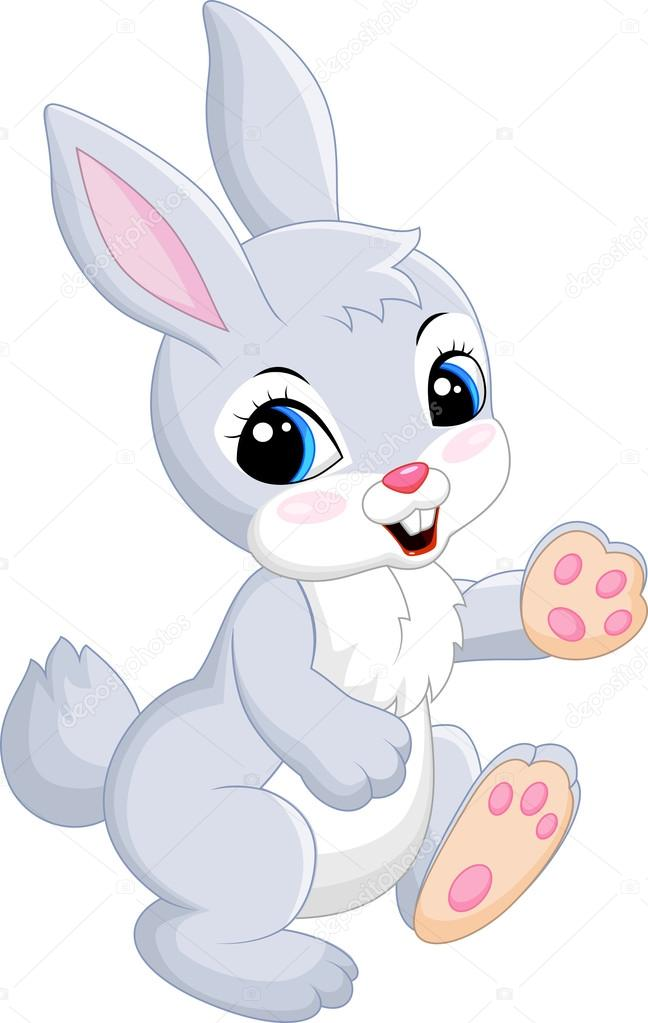 Caricatura lindo conejo — vector de stock tigatelu