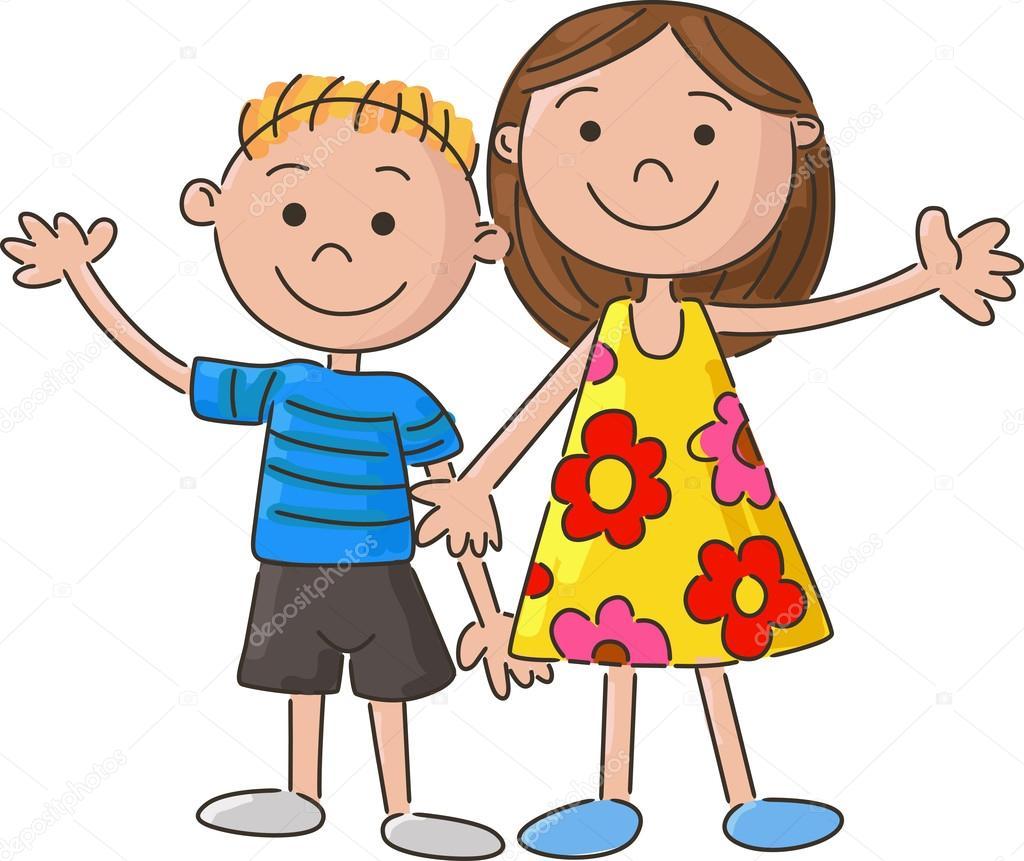 Dibujos animados de niños pequeños, la mano — Archivo ...
