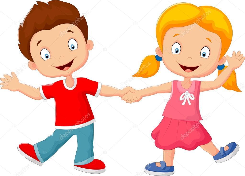 Imágenes Niños De La Mano Animados Dibujos Animados De Niños