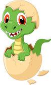 Fotografie Cute dinosaur cartoon hatching