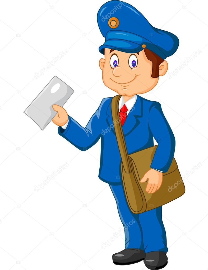 Facteur de dessin anim tenant mail et sac image vectorielle tigatelu 75189533 - Facteur dessin ...
