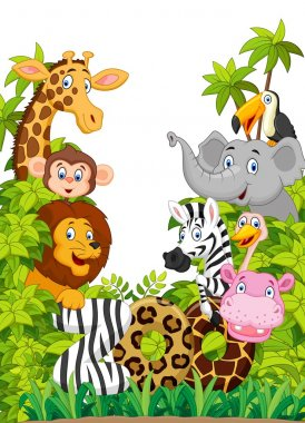 Cartoon collection happy animal of zoo