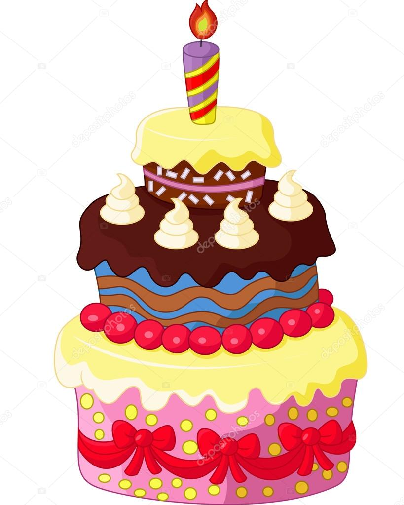 Cartoon Birthday cake Stock Vector tigatelu 75190153