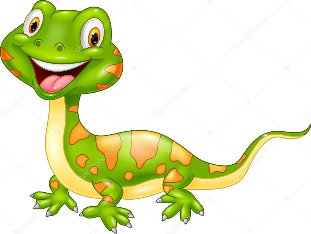 Cartoon cute lizard. — Stock Vector © tigatelu #75367605 for Cute Lizard Clipart  545xkb