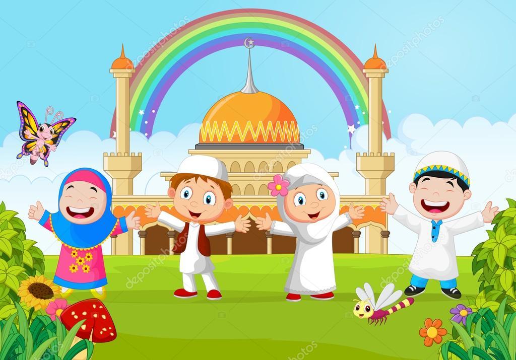 Gambar Kartun Anak Muslim Vector Terbaru - Galeri Keren
