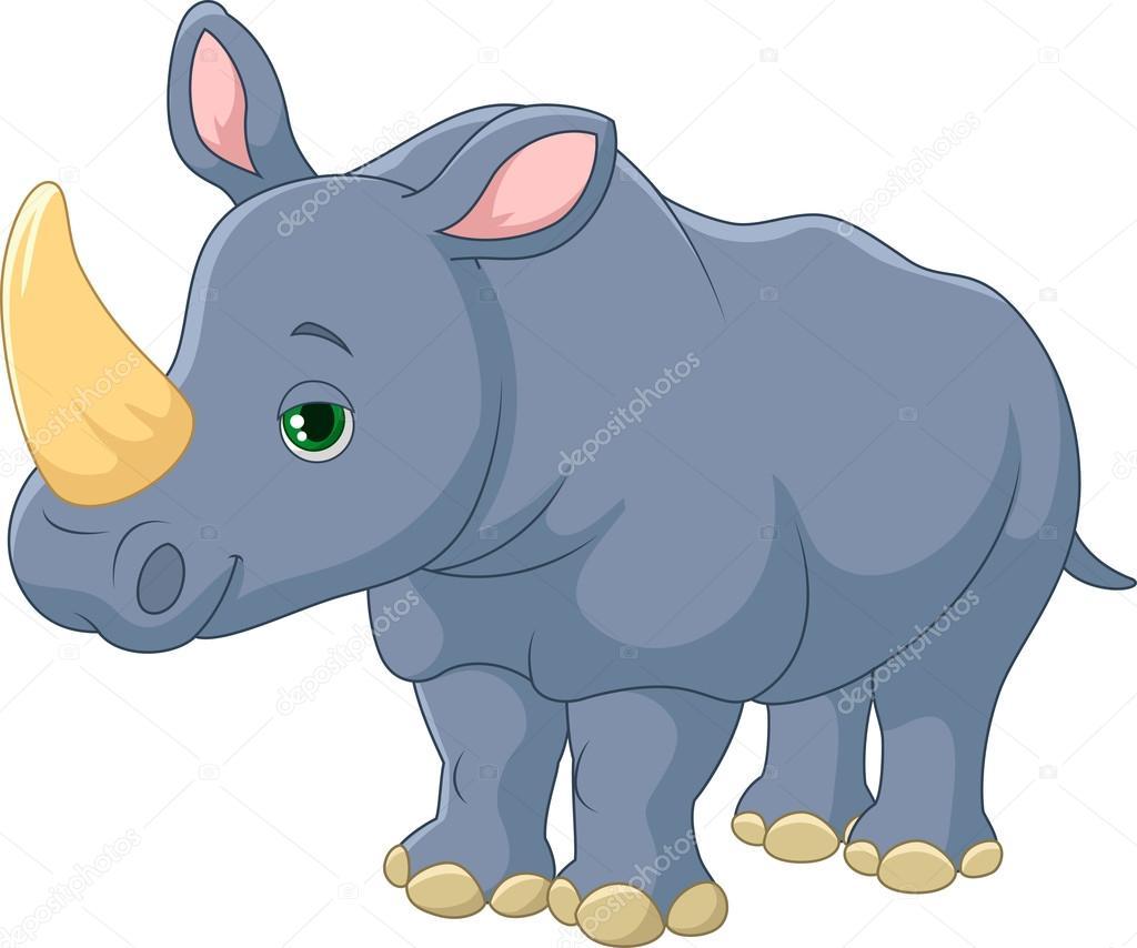 Носорог рисунок