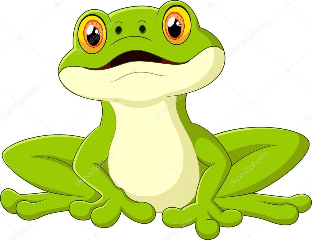 Niedliche Cartoon Frosch Stockvektor Tigatelu 76881045