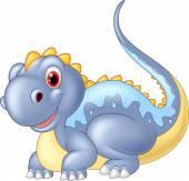 Fotografie Illustration dinosaur posing, isolate vector on white