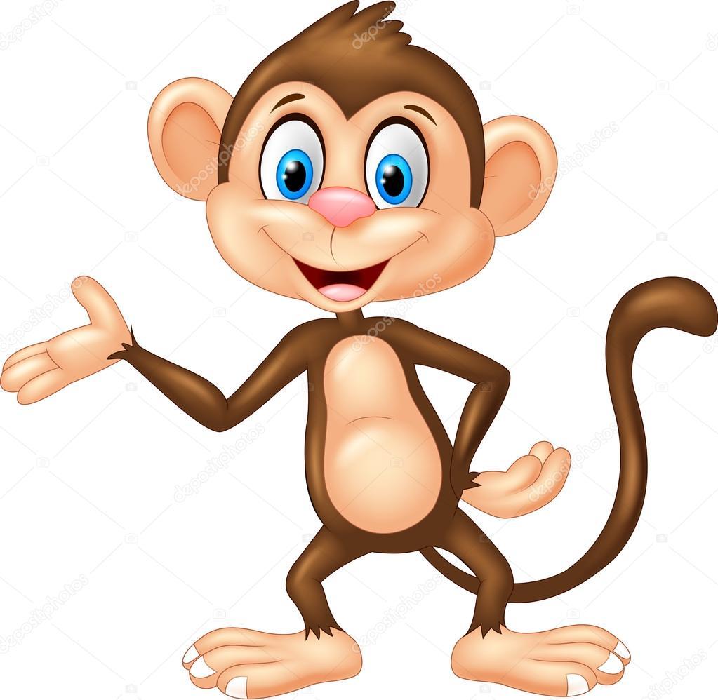kreslená opice da...