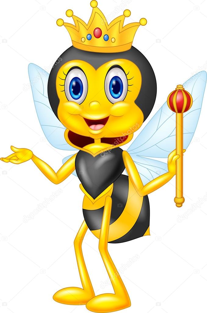 abeja reina de dibujos animados que presenta vector de stock  u00a9 tigatelu 82289268 crown clipart transparent crown clip art images