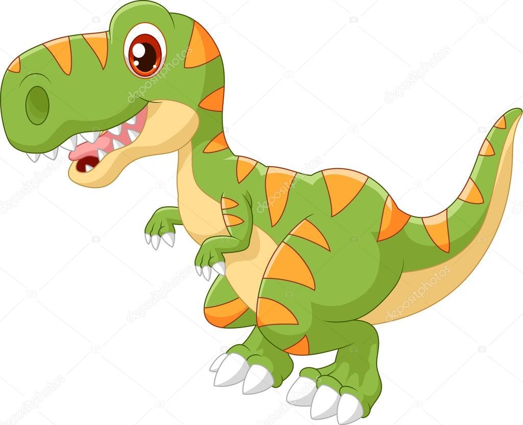 Dinosaure adorable dessin anim image vectorielle - Dinosaure dessin anime disney ...