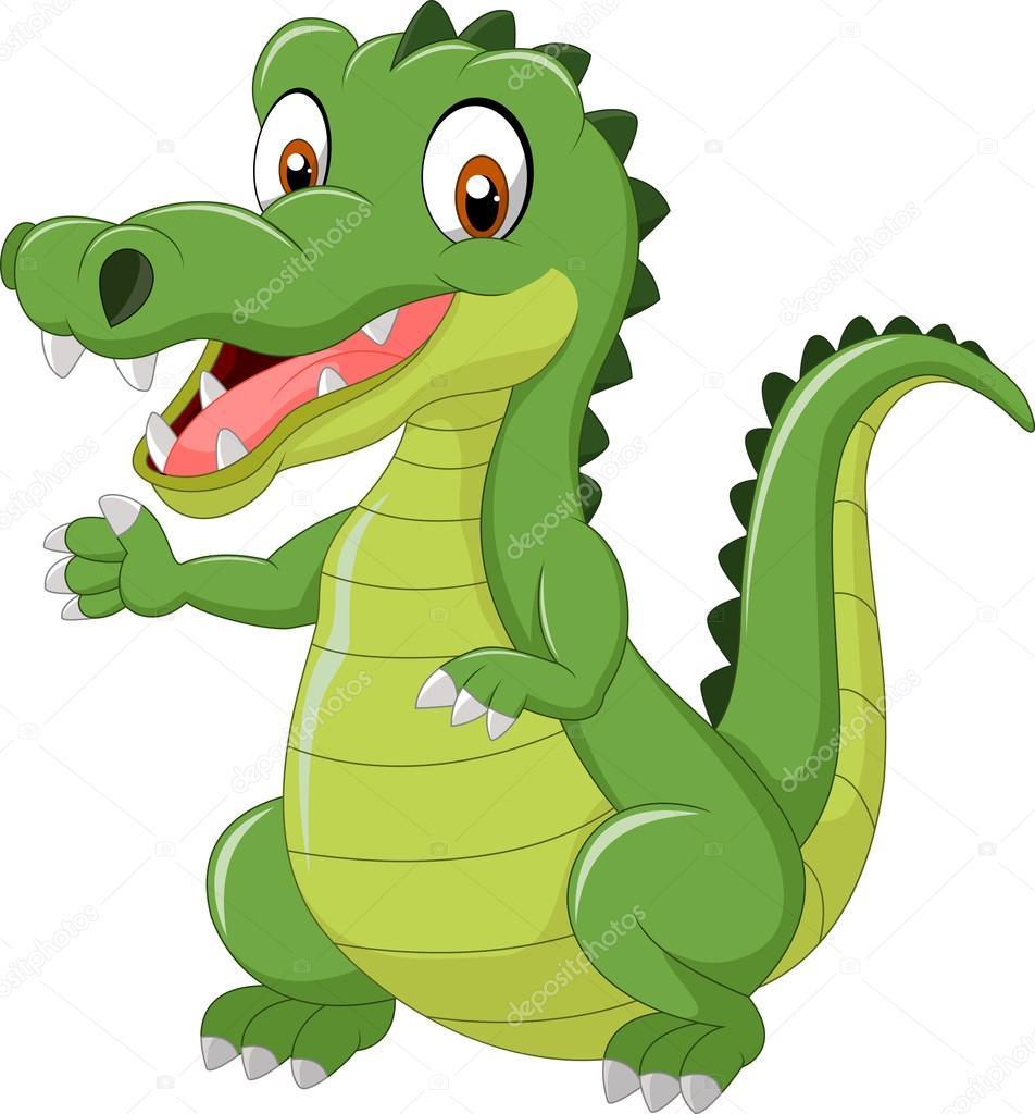 Cartoon cute crocodile — Stock Vector © tigatelu #82289704