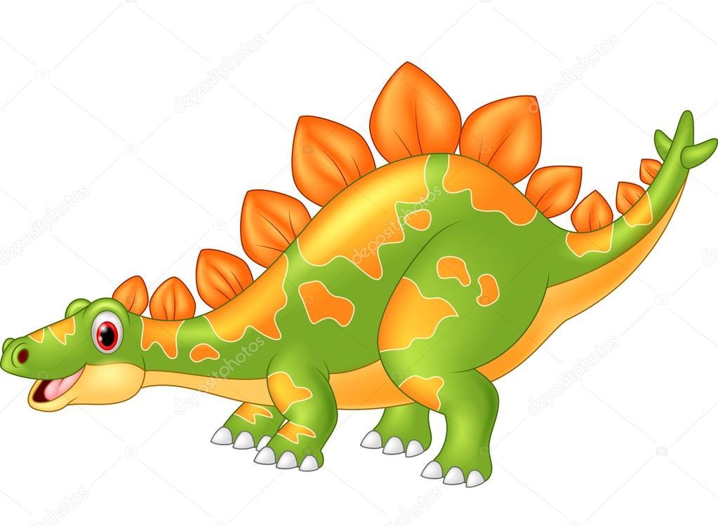 cartoon big dinosaur stegosaurus stock vector tigatelu 82289770