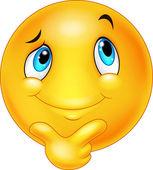 Fotografie Happy Cartoon Emoticon Denken