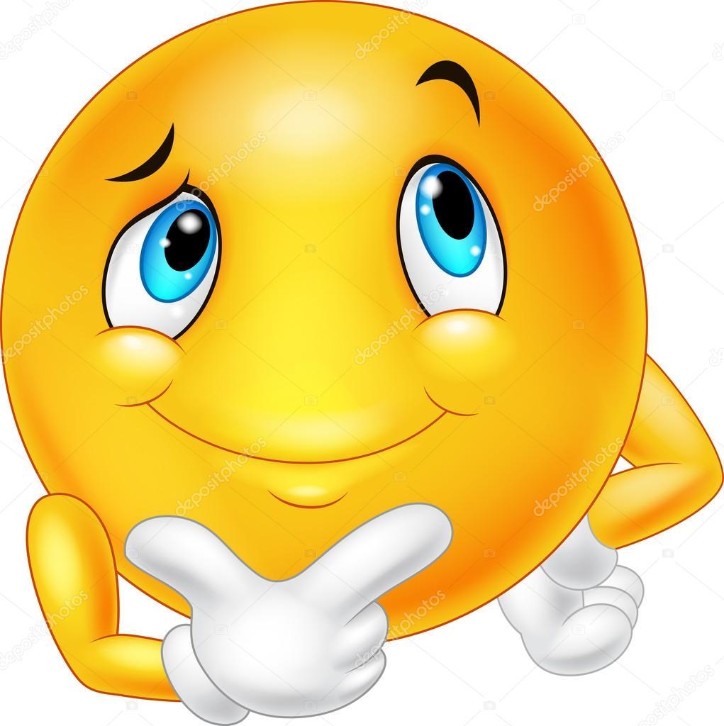 Depositphotos Stock Illustration Happy Cartoon Emoticon Thinking Smiley