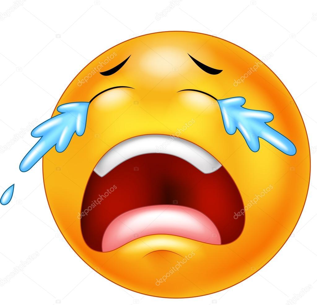 Motic ne dessin anim pleure avec des larmes isol s sur - Dessin avec emoticone ...