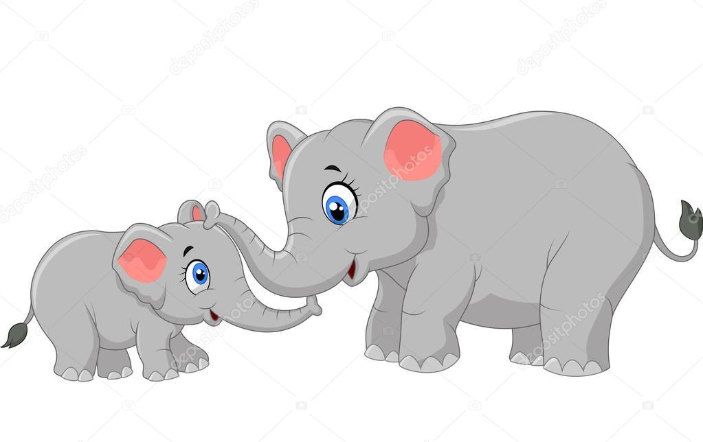 dibujos animados elefante madre y ternero vinculaci u00f3n cute elephant clip art silhouette cute elephant clip art girl