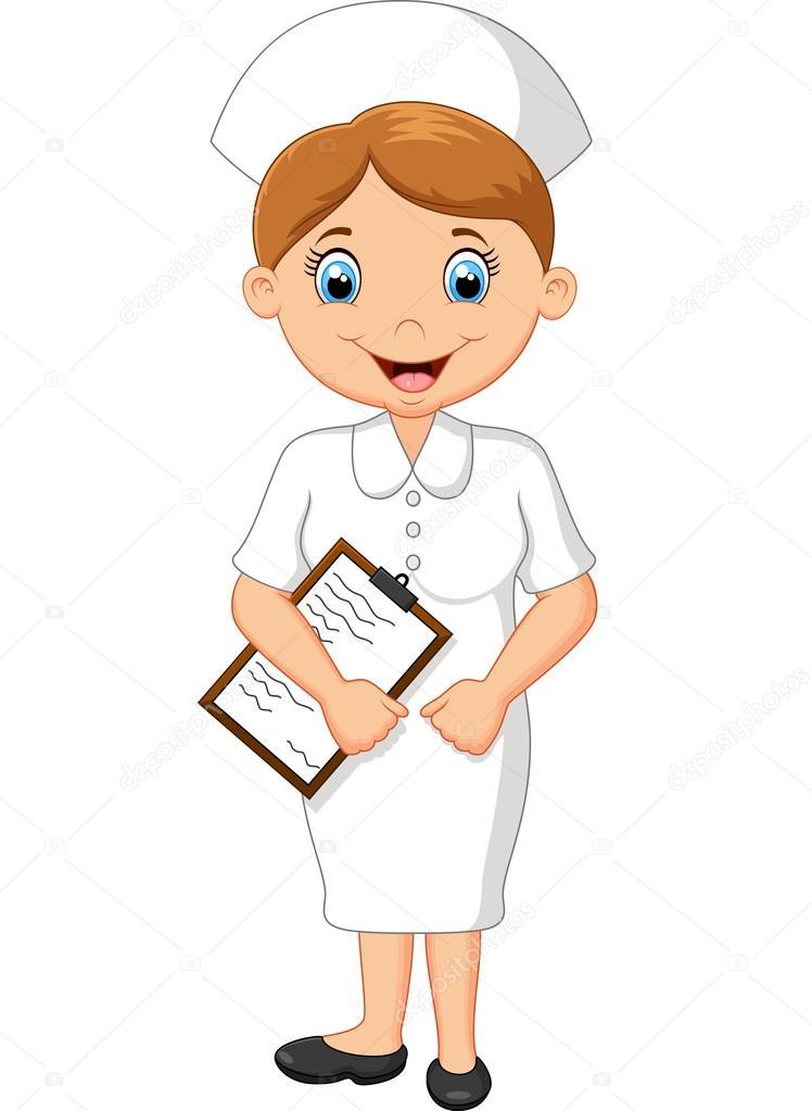 Enfermera Feliz Dibujo Enfermera Feliz De Dibujos Animados