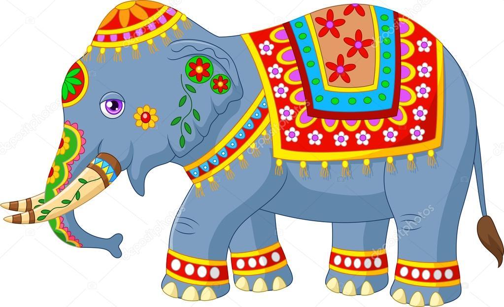 Dibujos Elefantes Indios Elefante De Dibujos Animados Con Traje