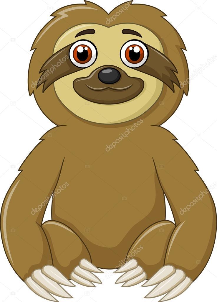 Estar animal de dibujos animados divertido perezoso