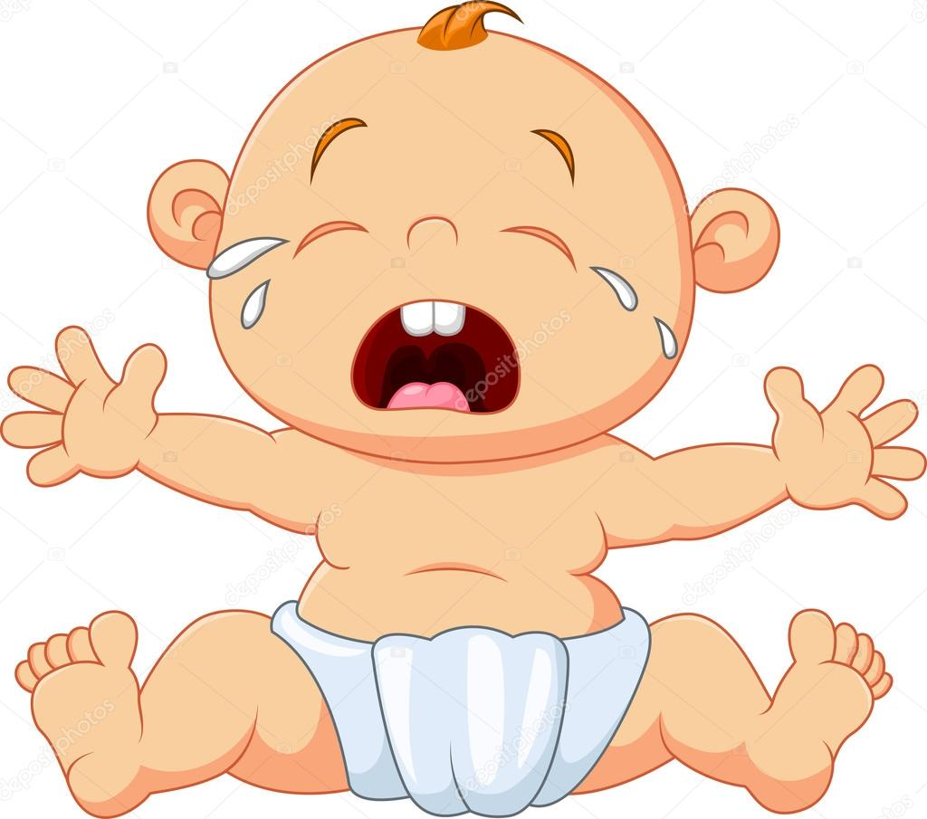 La Porte a déménagé (archive 2)... - Page 4 Depositphotos_95330696-stock-illustration-cute-baby-crying-isolated-on