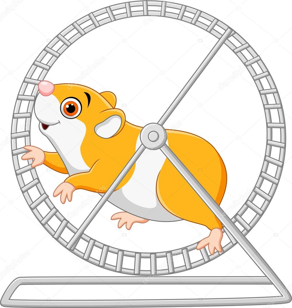 Clipart of a Cartoon Chubby Hamster Kicking a Soccer Ball ...  |Hamster Ball Clipart