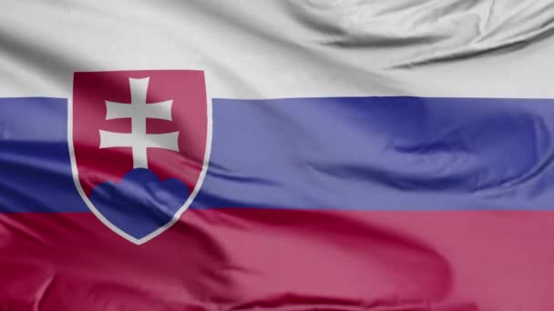 Slovenská vlajka Realistický 3D