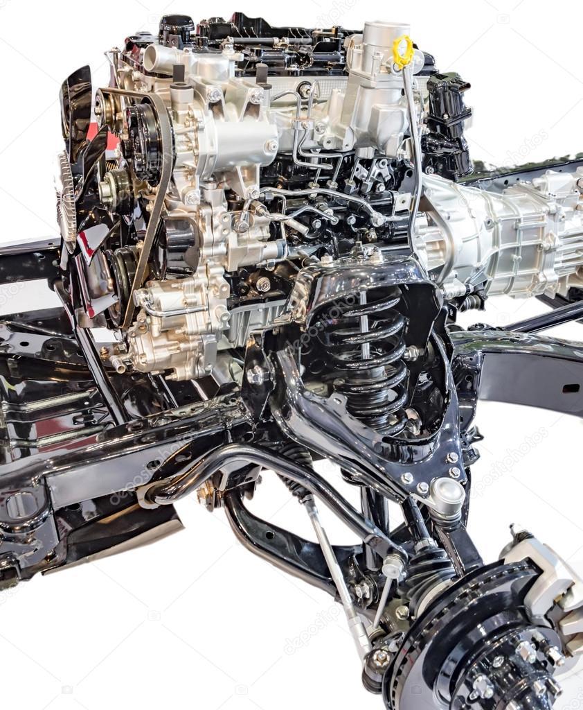 Mechanische LKW-Motor und Teile — Stockfoto © promicrostockra #107748190