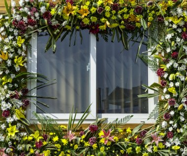 Decorated window of home