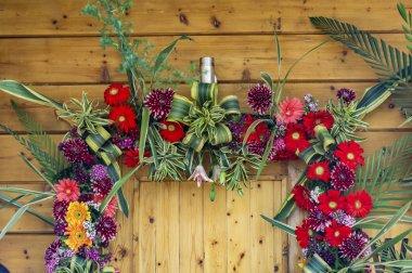 Door enterance decorated