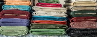 Stacks of textile