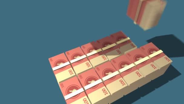 Rostoucí hromadu set čínský jüan Bill