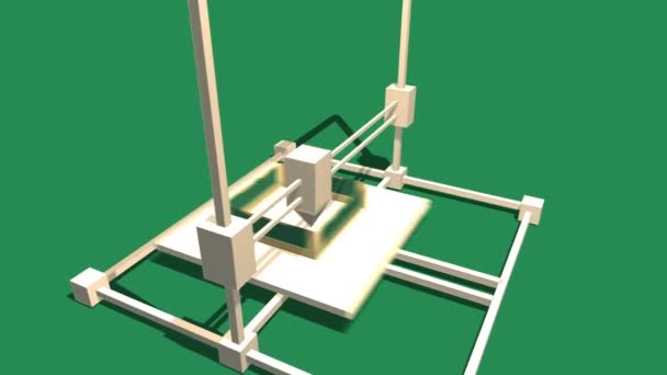 Simple Animation of Printing on 3D Printer.