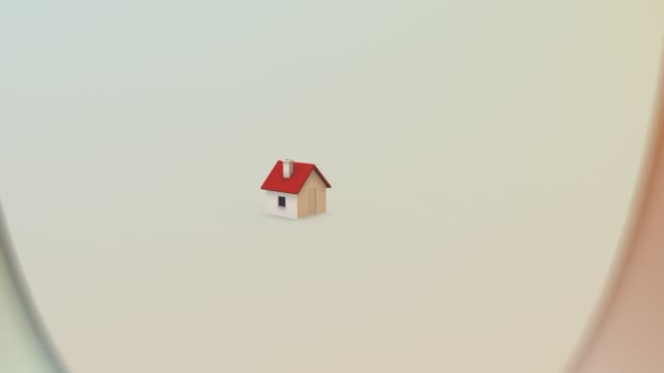 Word home red house white background