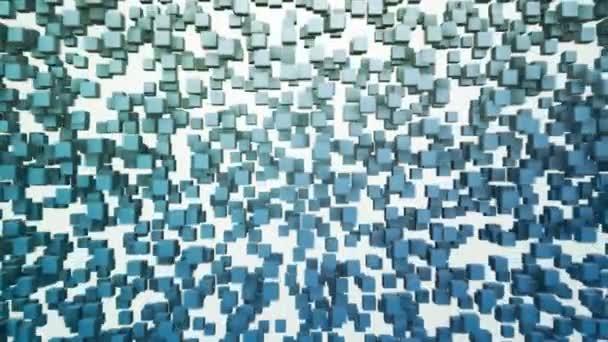 Oblak modrého pixelů