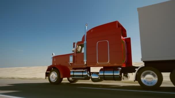 18 kola kamionu na silnici
