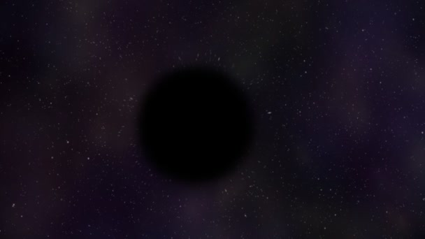 black hole in the middle of the outer space