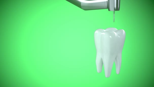 treating unhealthy tooth with a drill.