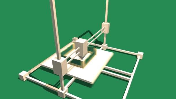 Jednoduché animace tisk na 3d tiskárně