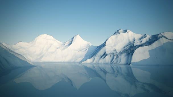 Zimní krajina s jezerem