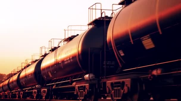 Transportation tank cars with oil