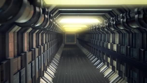 corridor with no windows or doors