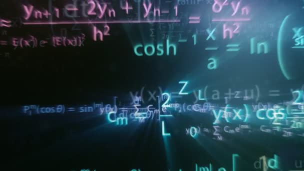 Colorful maths formulas with motion blur effect