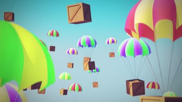 paracadute casse consegna